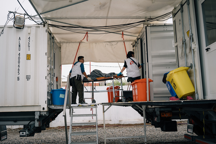 MSF Field Trauma Clinic, South of Mosul, Iraq