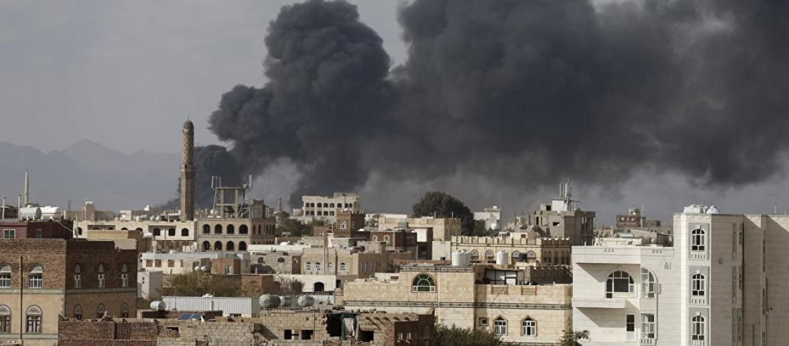 A Saudi airstrike in Yemen's capital